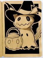 Mimikyu Halloween Sketch by TruiArts