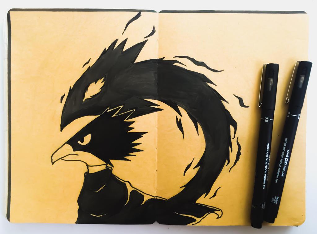 Tokoyami and Dark Shadow by TruiArts