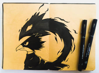 Tokoyami and Dark Shadow by TruiArts