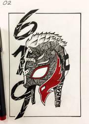Inktober 2019 Day 3 - Rey Mysterio
