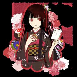 Jigoku shoujo by redribbon-leo