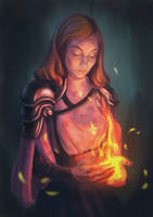 Young Pyromancer by m-feuille