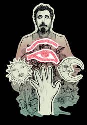 Serj Tankian T-Shirt Design by CMaitland