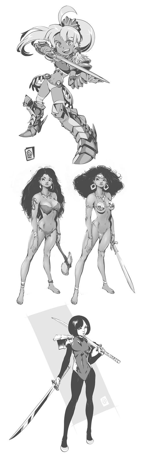 Swordgirls by Smolb