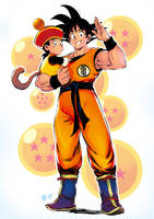 Goku and Son by Smolb
