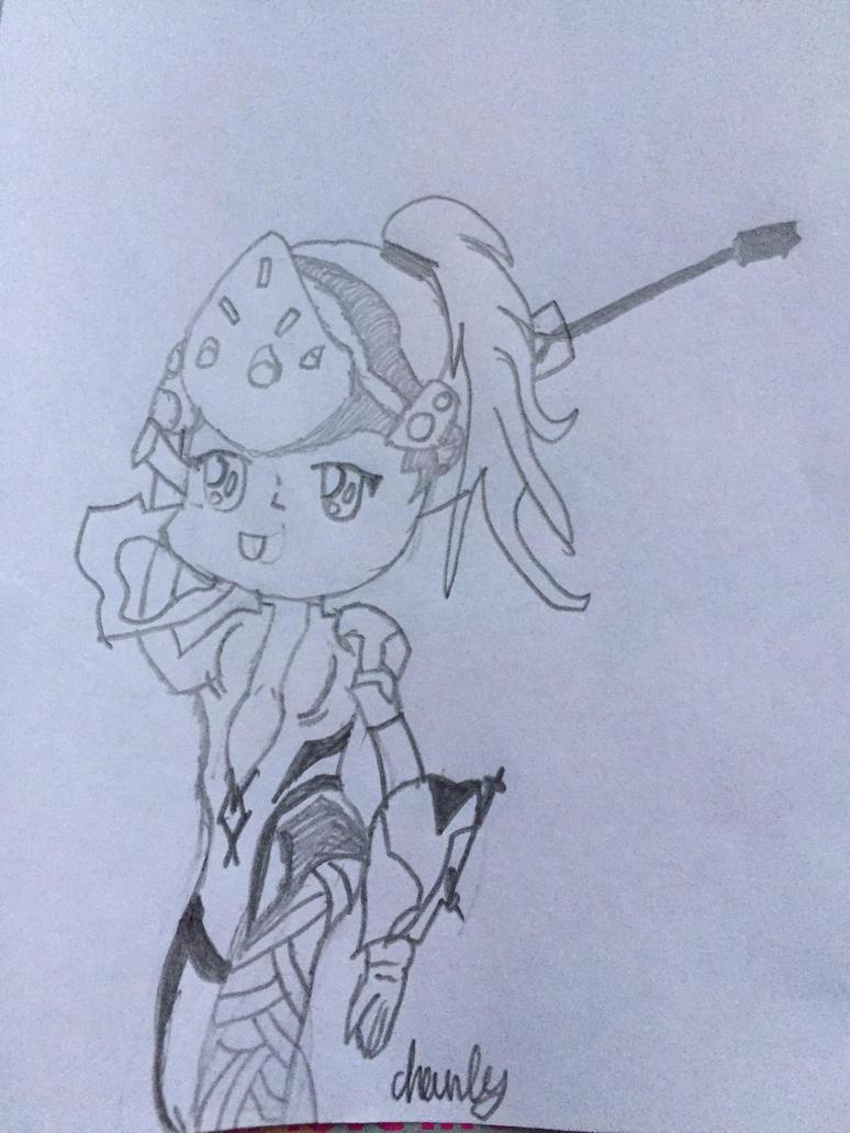 Chibi widowmaker sketch by Charleypop