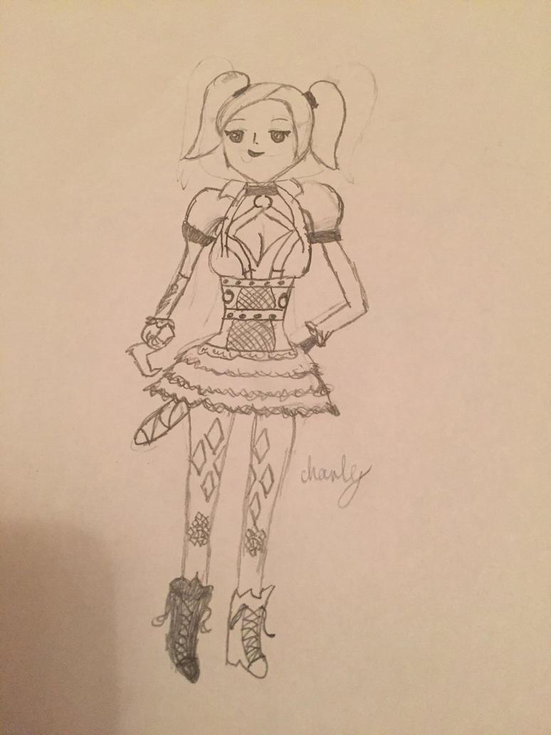Anime arkham knight harley quinn by Charleypop