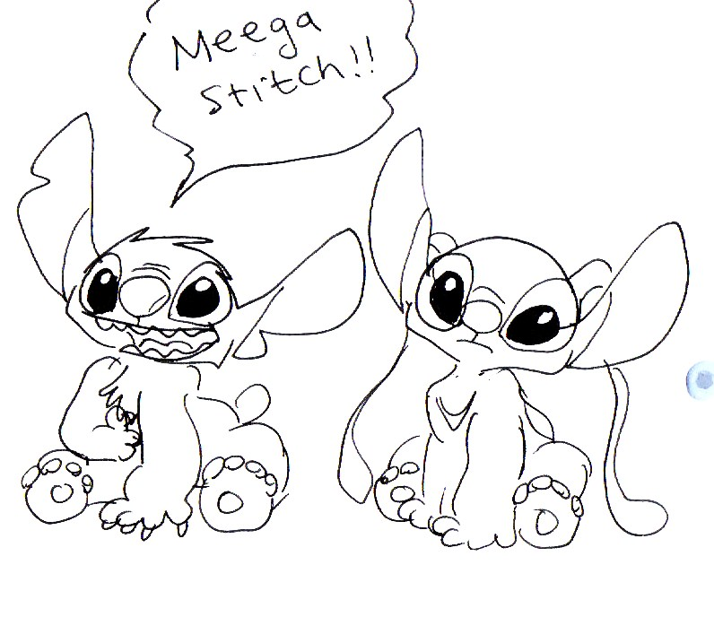 stitch and angel coloring pages - photo#5