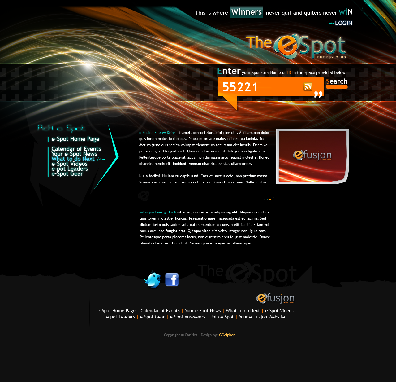 e spot webdesign layout by ixstudio on deviantart. Black Bedroom Furniture Sets. Home Design Ideas