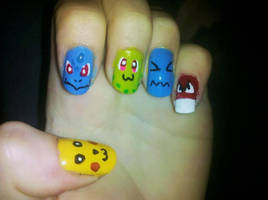 Pokemon Nails by Chelseapoops