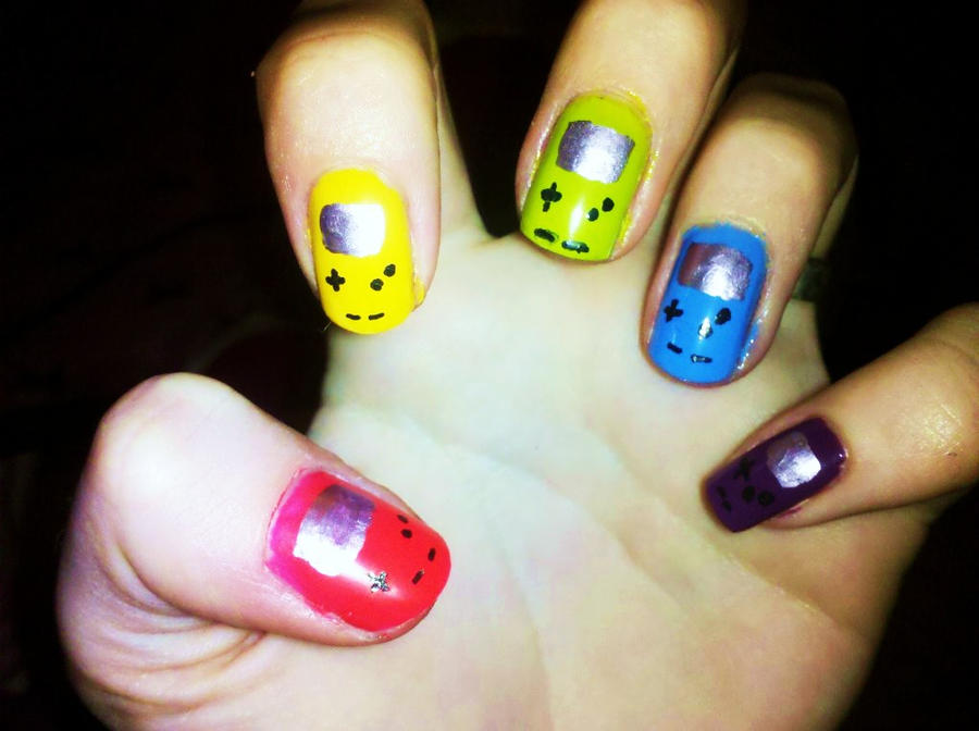 Gameboy Color Nails by Chelseapoops on DeviantArt
