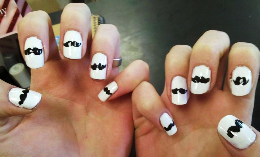 Mustache Nail Art By Chelseapoops On Deviantart