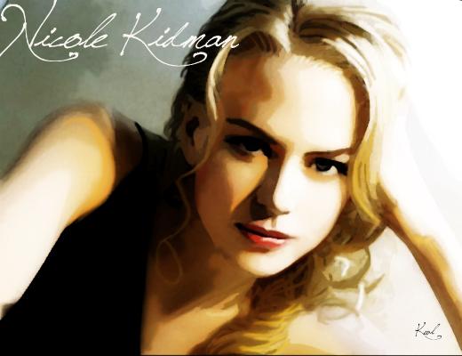 Drawing Nicole Kidman by kawl4sure