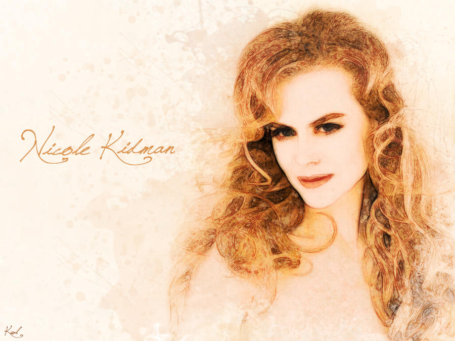 Painting Nicole Kidman by kawl4sure