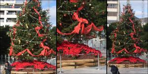 big christmas tree.
