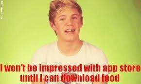 Niall and Food by cocobeanc