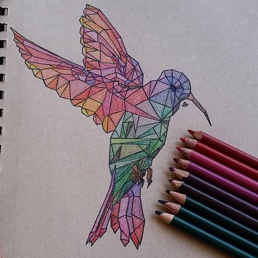 Hummingbird  Stained Glass by cocobeanc