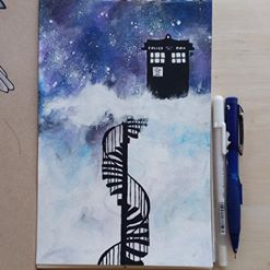 Doctor Who Painting by cocobeanc
