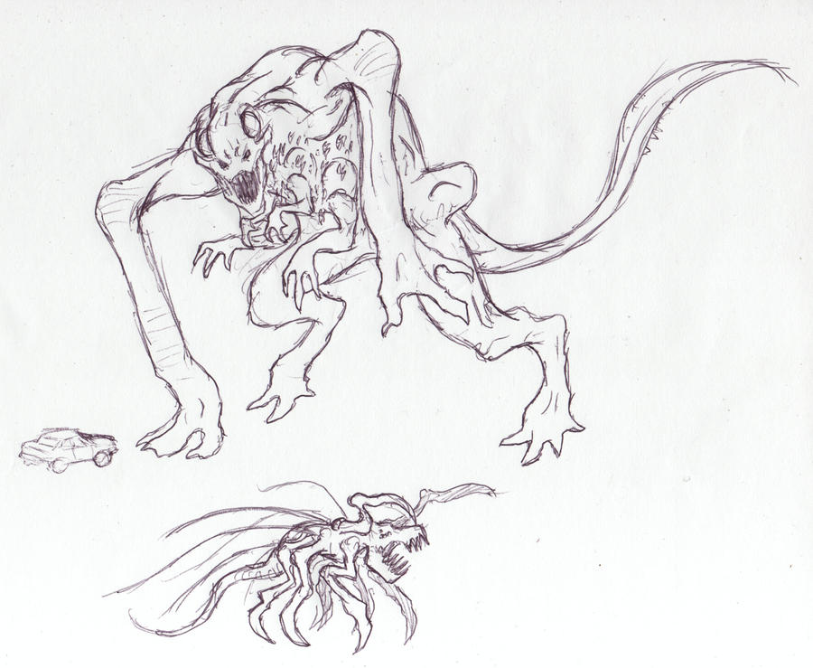 SPOILER-Cloverfield Monster by arvalis on DeviantArt