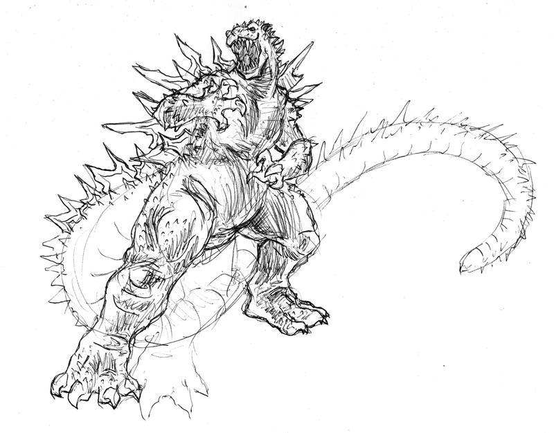 Dibujos Para Colorear De Godzilla 2014 Impresion Gratuita