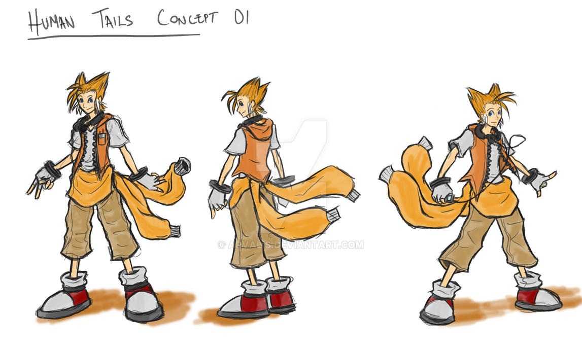Tails Human Concept by arvalis