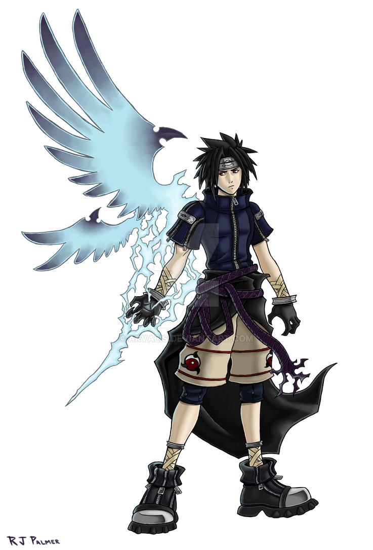 Kingdom Hearts-Sasuke Colors by arvalis