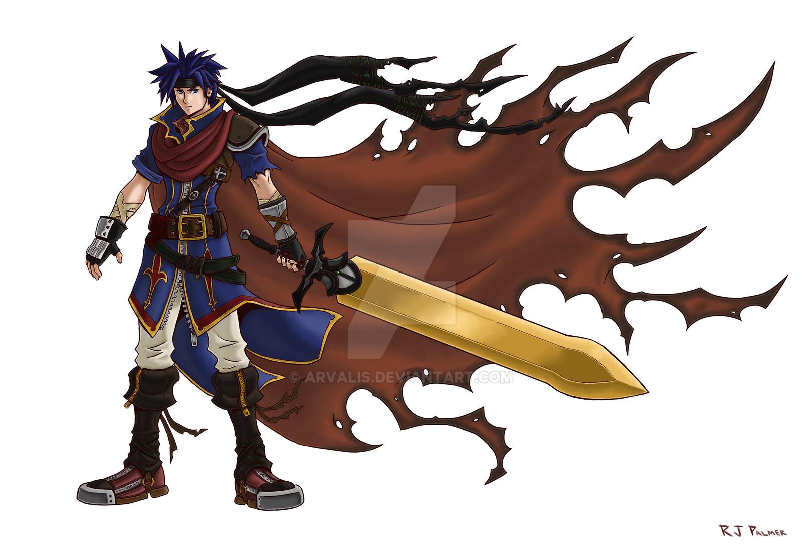 Sora Kingdom Hearts Lineart : Kingdom hearts ike lines by arvalis on deviantart