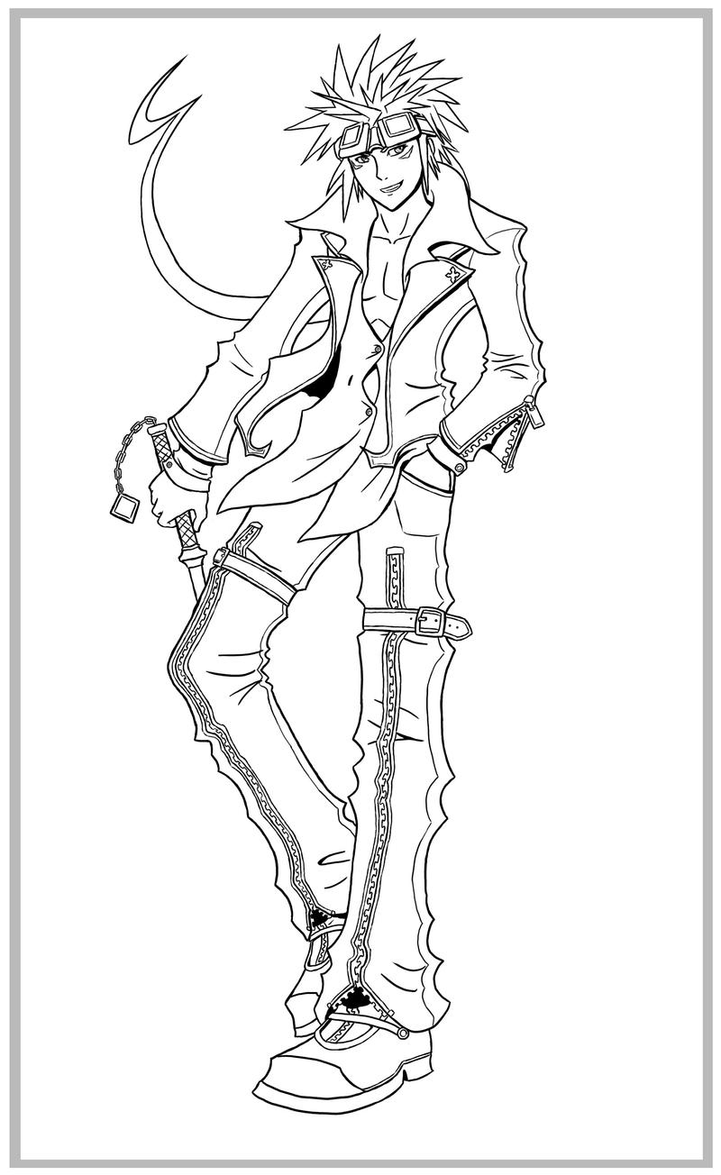 Kingdom Hearts Coloring Pages Axel Info