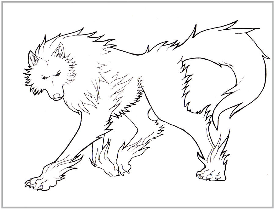 Line Drawing Wolf : Wolf lines by arvalis on deviantart