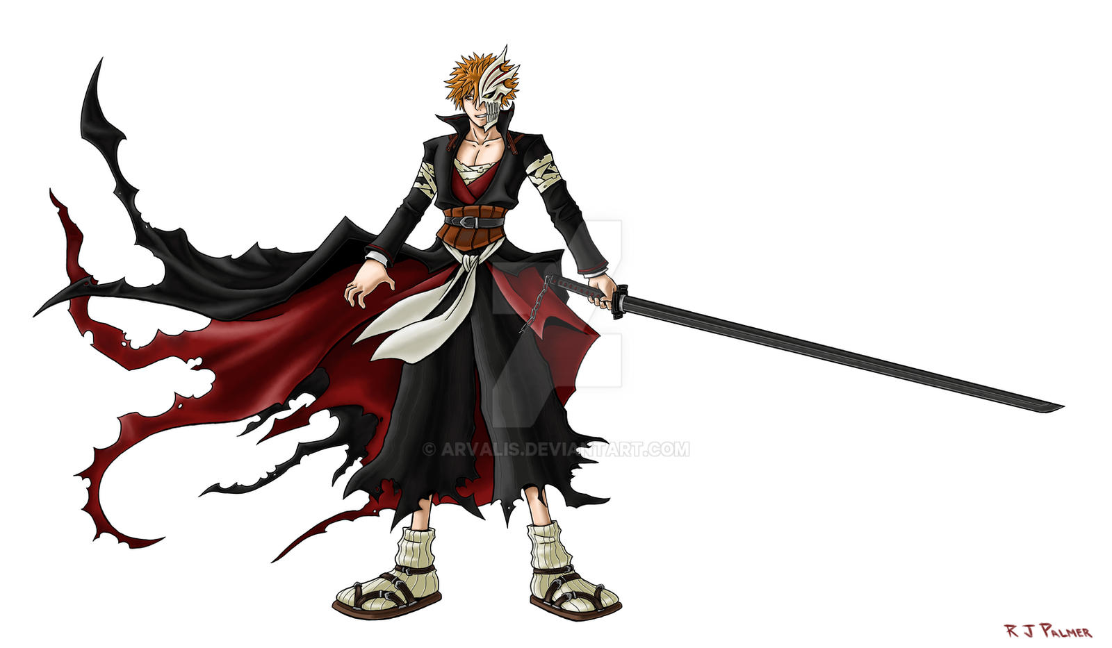 Kingdom Hearts-Ichigo Colored by arvalis