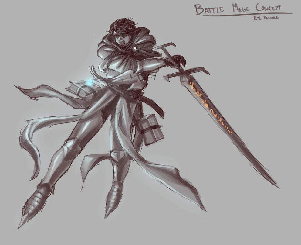 Battle Mage Concept by arvalis