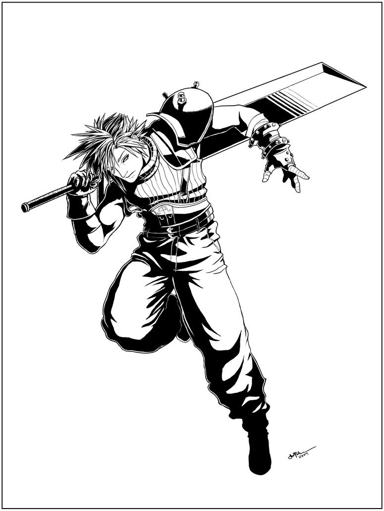 Cloud Strife Resolve Lines By Arvalis On Deviantart
