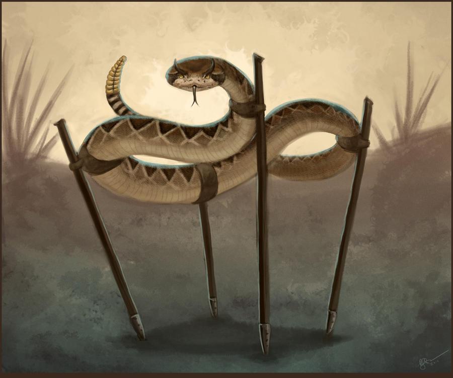 Snake on Stilts by arvalis