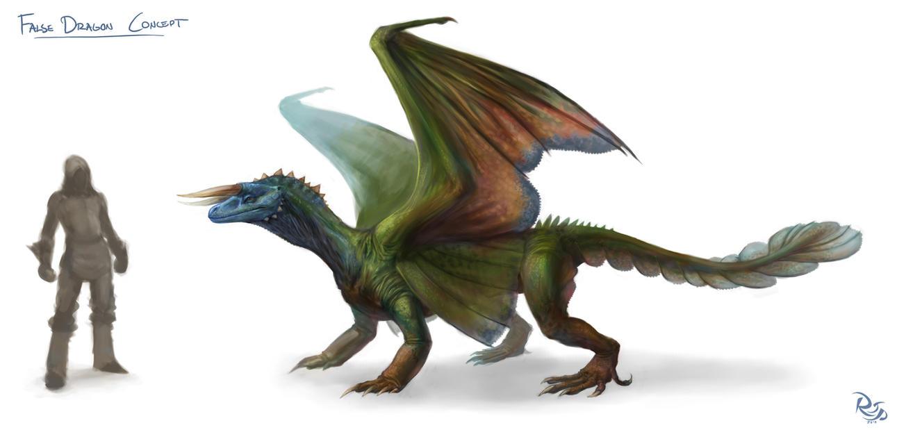 False Dragon Concept by arvalis