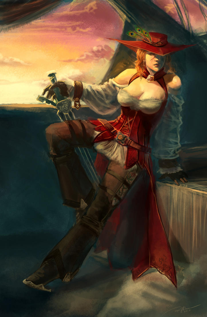 The Fantasy pirate women consider, that