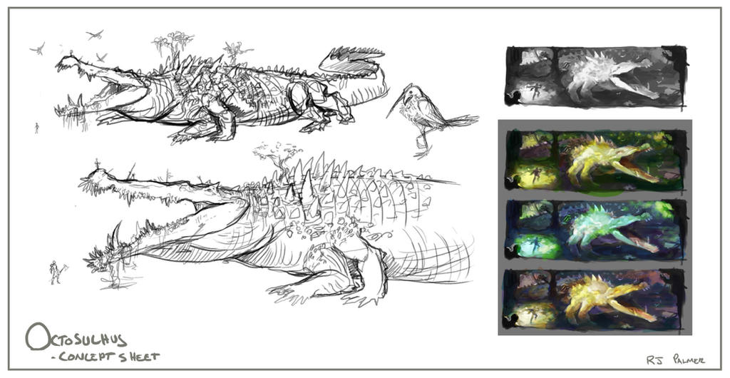 Octosuchus-Concept Sheet by arvalis