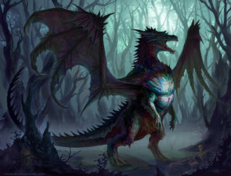 -Umbre Ribmouth Dragon- by arvalis