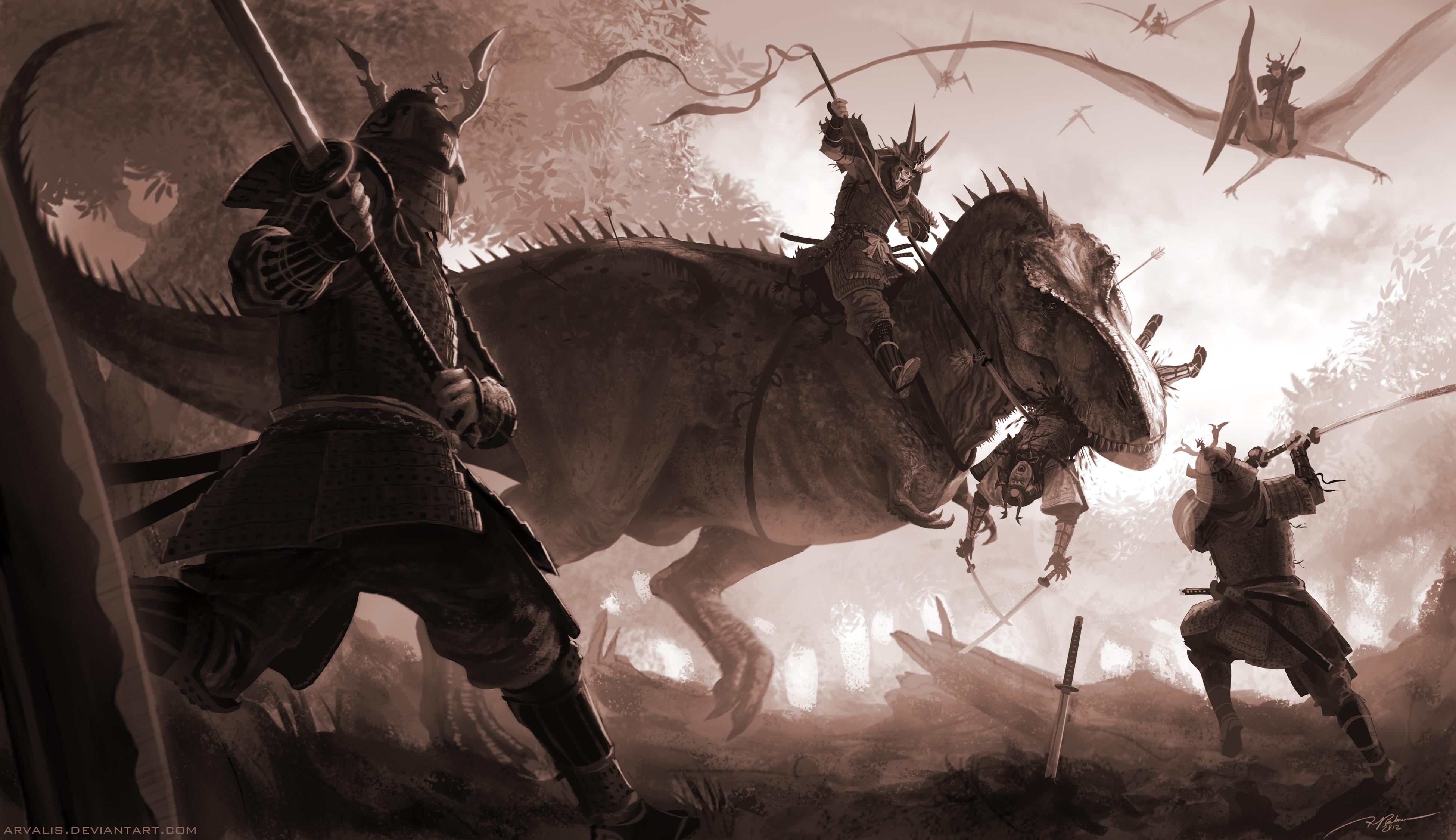 T-Rex vs Samurai