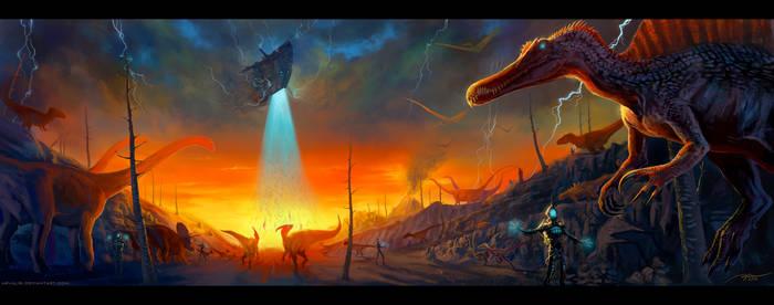 -Dinosaur Exodus- by arvalis