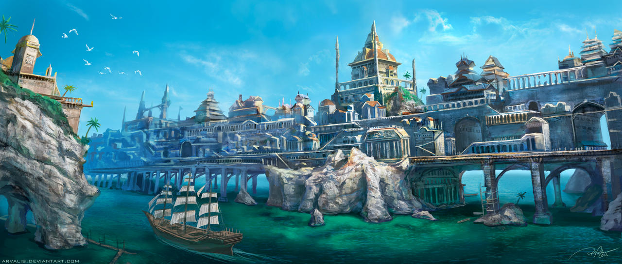 City on the Big Bridge by arvalis