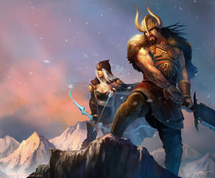 Tryndamere And Ashe-Revisted by arvalis