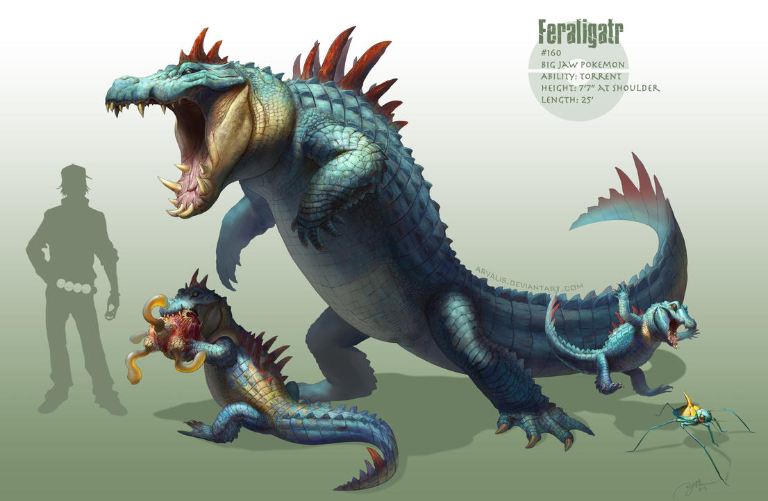 Just awesome Pokémon stuff _feraligatr__by_arvalis-d6q14zh
