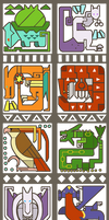 Pokemonster Hunter Icons by arvalis