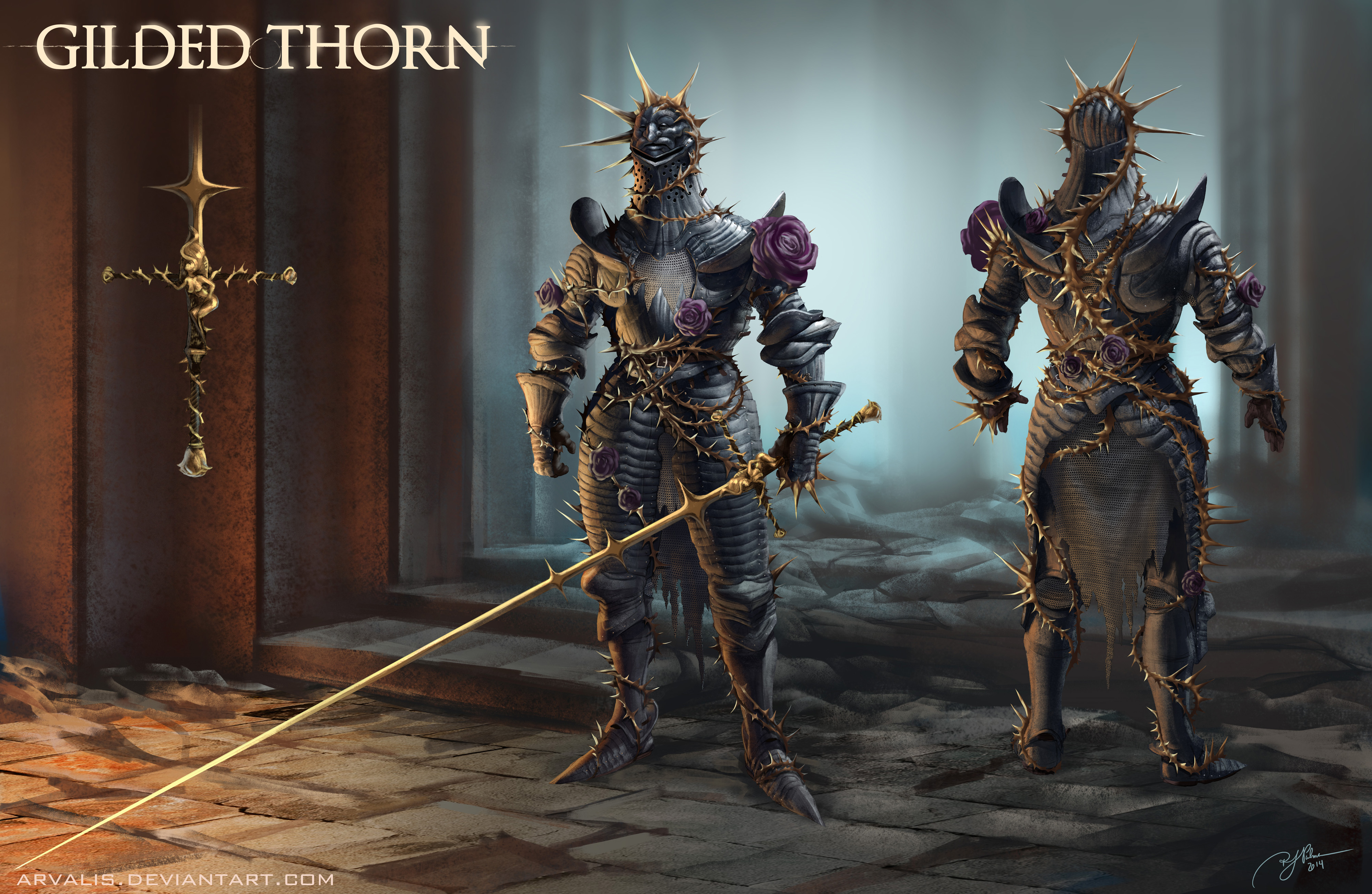 Gilded Thorn Armor By Arvalis On Deviantart Eerily shaped helmet/armor/gauntlets/leggings spoken of in legend, crafted with the scales of the black dragon. gilded thorn armor by arvalis on deviantart