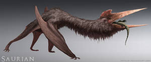 Saurian-Quetzalcoatlus by arvalis