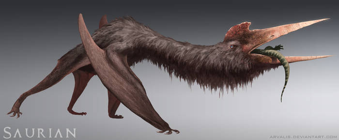 Saurian-Quetzalcoatlus