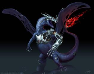 -Metal Lizardon- by arvalis