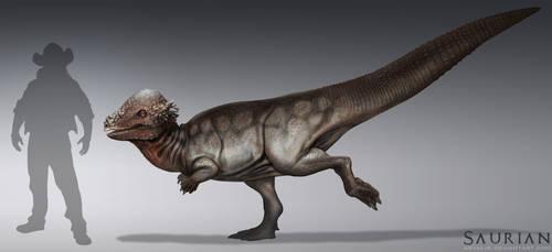 Saurian-Pachycephalosaurus