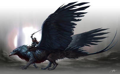 Raven Gryphon by arvalis