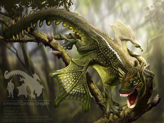 Emerald Canopy Dragon by arvalis